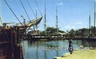 cam001442 - Mystic Seaport, Mistic Conn, USA Camera Postcard, Post Card Old Vintage Antique