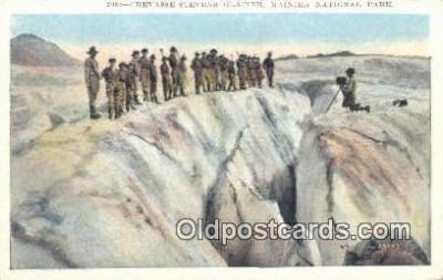 cam001443 - Crevasse Stevens Glacier, Rainer National Park, Washington, USA Camera Postcard, Post Card Old Vintage Antique
