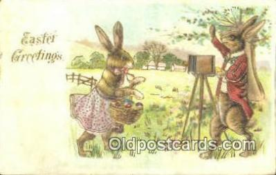 cam001475 - Easter Greetings Camera Postcard, Post Card Old Vintage Antique