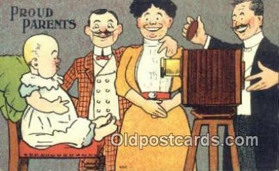cam001477 - Proud Parents Camera Postcard, Post Card Old Vintage Antique