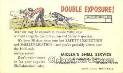 cam001482 - Miclea's Shell Service Camera Postcard, Post Card Old Vintage Antique