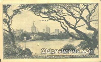 cam001503 - Lake Merritt, Oakland, CA, USA, Kodak Adv on back Camera Postcard, Post Card Old Vintage Antique