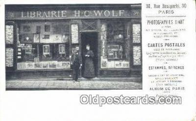 cam001509 - Librairie HC Wolf, 30 Rue Bonaparte, 30 Paris France Camera Postcard, Post Card Old Vintage Antique