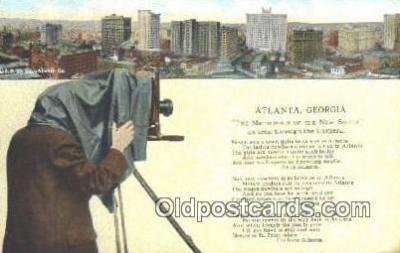 cam001576 - Atlanta Georgia Camera Postcard, Post Card Old Vintage Antique