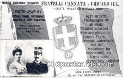 cam001618 - Fratelli Cannata, Chicago, Ill. USA Camera Postcard, Post Card Old Vintage Antique