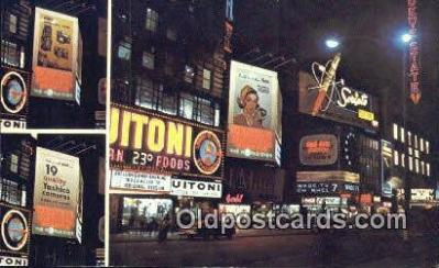 cam001889 - Yashica, Times Square, NYC, NY, USA Camera Postcard, Post Card Old Vintage Antique