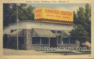 cam100064 - Camera Center, Gatlinburg, Tenn, USA Camera Postcard Post Card Old Vintage Antique