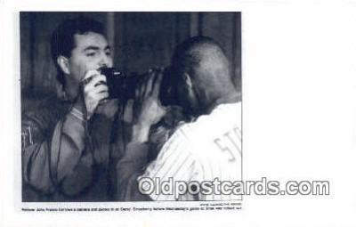 cam100076 - NY Mets, John Franco & Darryl Strawberry, 1990 Camera Postcard Post Card Old Vintage Antique