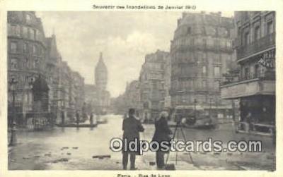 cam100201 - Souvenir des Indondations de Janvier 1910 Camera Postcard Post Card Old Vintage Antique