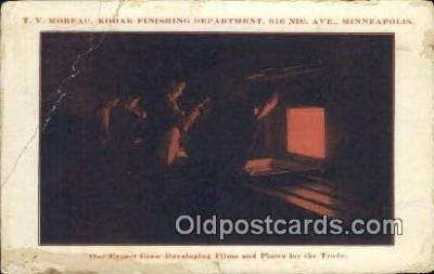 cam100268 - TV Moreau, Kodac Finishing Dept Minneapolis Camera Post Card Postcard Old Vintage Antique
