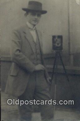 cam100500 - Camera Postcard Post Card Old Vintage Antique