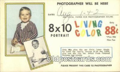 cam100502 - 8 x 10 Portait Camera Postcard Post Card Old Vintage Antique