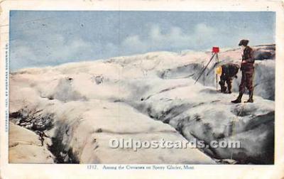 Crevasses on Sperry Glacier Montana, USA