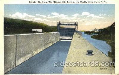 can001005 - Big Lock, The Highest Lift Lock in World, Little Falls, NY, USA Canal, Canals, Postcard Post Card