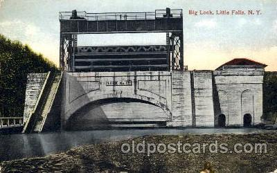 can001006 - Big Lock, The Highest Lift Lock in World, Little Falls, NY, USA Canal, Canals, Postcard Post Card