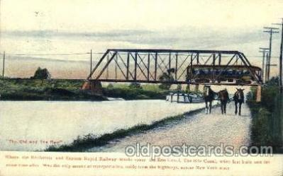 can001012 - Where Rockchester & Eastern Rapid Railway Tracks Cross the Erie Canal Canal, Canals, Postcard Post Card