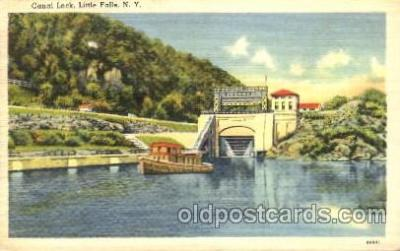 can001014 - Canal Locks, Little Falls, New York, NY USA Canal, Canals, Postcard Post Card
