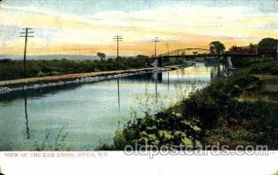 can001020 - Erie Canal, Utica, New York, USA Canal, Canals, Postcard Post Card