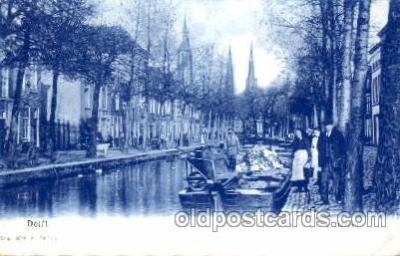 can100001 - Delft, Achterom Canal, Canals, Postcard Post Card