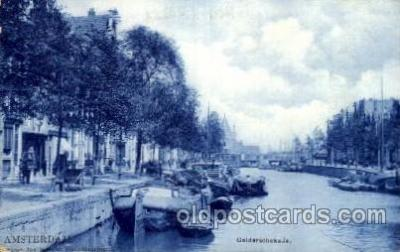 can100002 - Amsterdam, Gelderschekade Canal, Canals, Postcard Post Card