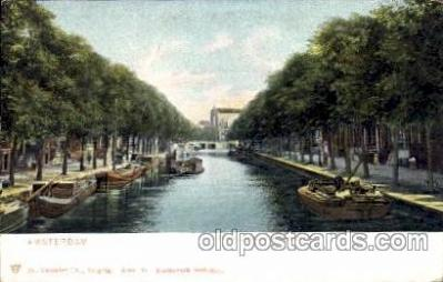 can100003 - Amsterdam, Prinsengracht B.D. Vijzeistraat Canal, Canals, Postcard Post Card
