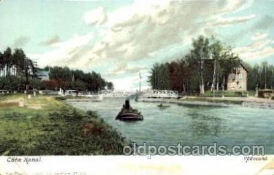 can100005 - Gota Kanal, Rodesund, Sweden Canal, Canals, Postcard Post Card