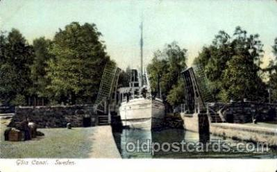 can100012 - Gota Canal, Sweden Canal, Canals, Postcard Post Card