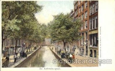 can100013 - De Achterburgwal, Amsterdam Holland Canal, Canals, Postcard Post Card