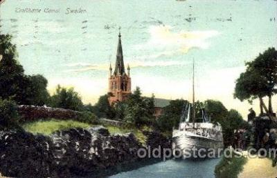 can100014 - Trollhattan Canal, Sweden Canal, Canals, Postcard Post Card