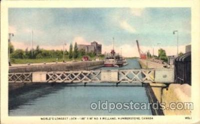 can150005 - Worlds Largest Dock, Humberstone, Canada Canal, Canals, Postcard Post Card