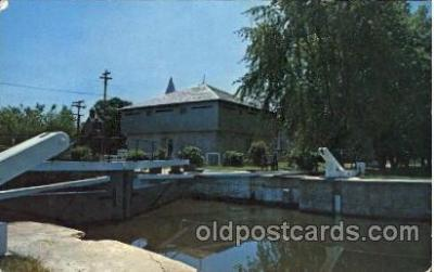 can150007 - The Blockhouse Museum. Merrickville, Ontario, Canada Canal, Canals, Postcard Post Card