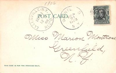 can200013 - Delaware and Hudson Canal Postcard Old Vintage Antique  back