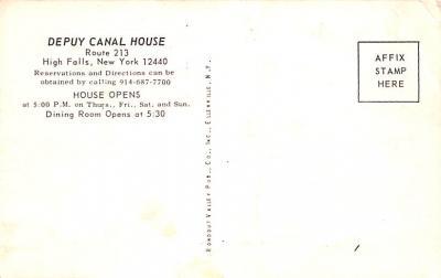 can200019 - Delaware and Hudson Canal Postcard Old Vintage Antique  back