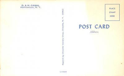 can200051 - Delaware and Hudson Canal Postcard Old Vintage Antique  back