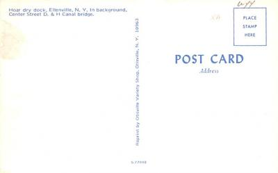 can200119 - Delaware and Hudson Canal Post Card Old Vintage Antique  back