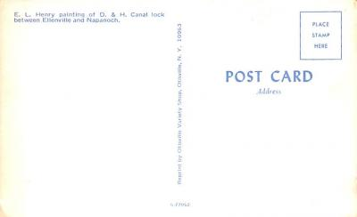 can200121 - Delaware and Hudson Canal Post Card Old Vintage Antique  back