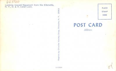 can200123 - Delaware and Hudson Canal Post Card Old Vintage Antique  back