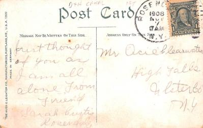 can200129 - Delaware and Hudson Canal Post Card Old Vintage Antique  back
