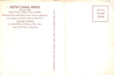 can200131 - Delaware and Hudson Canal Post Card Old Vintage Antique  back