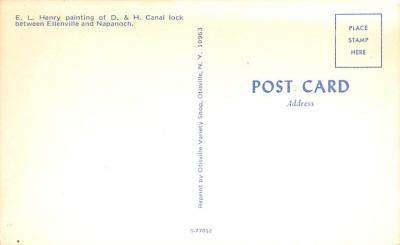 can200137 - Delaware and Hudson Canal Post Card Old Vintage Antique  back