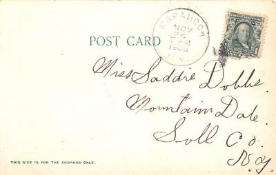 can200155 - Delaware and Hudson Canal Post Card Old Vintage Antique  back