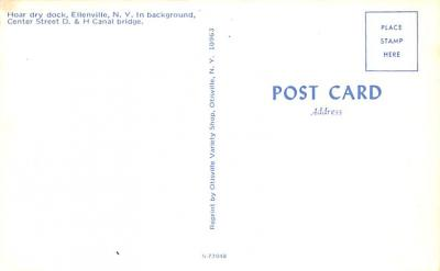 can200177 - Delaware and Hudson Canal Post Card Old Vintage Antique  back