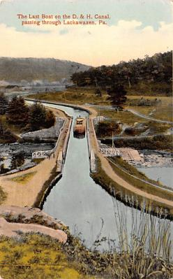 can200201 - Delaware and Hudson Canal Post Card Old Vintage Antique