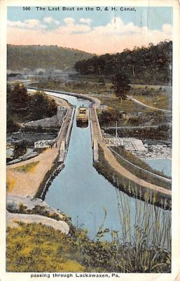can200225 - Delaware and Hudson Canal Post Card Old Vintage Antique