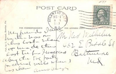 can200225 - Delaware and Hudson Canal Post Card Old Vintage Antique  back