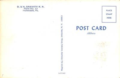 can200227 - Delaware and Hudson Canal Post Card Old Vintage Antique  back