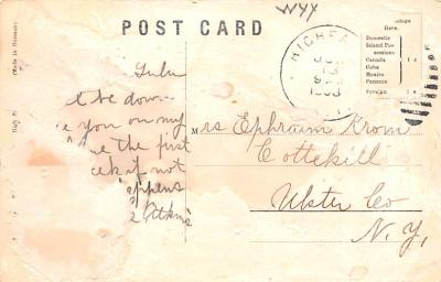 can200229 - Delaware and Hudson Canal Post Card Old Vintage Antique  back