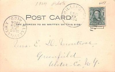 can200239 - Delaware and Hudson Canal Post Card Old Vintage Antique  back