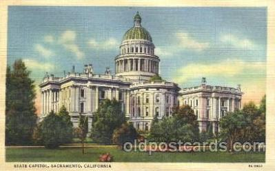 cap001009 - Sacramento, California, Cl, USA State Capitol, Capitols Postcard Post Card