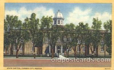cap001024 - Carson City, Nevada, Nv, USA State Capitol, Capitols Postcard Post Card